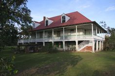 Home Place, Hahnville, Louisiana Louisiana Plantations, Louisiana Homes, Dog Trot House, Cracker House, Southern Plantation Homes, Antebellum Homes, Ranch Homes, Southern House Plans, Historic Homes