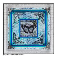 Crafty Individuals CI-135 - 'Four Beautiful Butterflies' Art Rubber Stamp, 85mm x 85mm - Crafty Individuals from Crafty Individuals UK