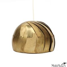 http://michelevarian.com/ Brass Aperture Pendant Lamp Small Gold