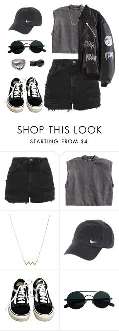 """""""Daddy Issues - The Neighbourhood"""" by grungeclothes ❤ liked on Polyvore featuring Topshop, H&M, Forever 21, NIKE and Vans"""