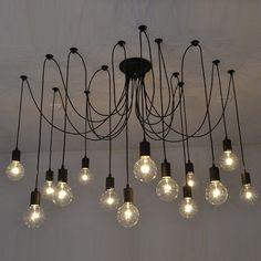 Swag Kronleuchter schwarz moderne von HangoutLighting auf Etsy  #interiors #design #homedecor