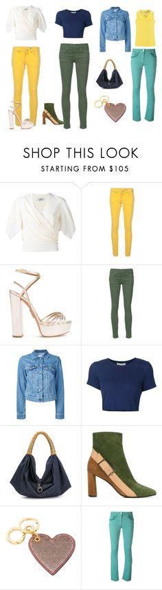 """Jeans..."" by jamuna-kaalla ❤ liked on Polyvore featuring Lanvin, M Missoni, Aquazzura, The Great, Closed, Sea, New York, Xaa, Casadei, Burberry and Etro"