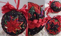 christmas folded fabric flat star pattern | Quilted Christmas Star Ornament, Holiday Ornament, Christmas ...