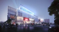 Building Rendering, Luxury Restaurant, Nanjing, Shenzhen, Modern Architecture, Commercial, Mall, Retail, Fancy
