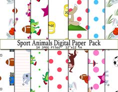 "Check out new work on my @Behance portfolio: ""Sport Animals Digital Paper Pack"" http://be.net/gallery/50100639/Sport-Animals-Digital-Paper-Pack"
