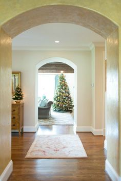 Christmas Home Tour - Foyer View to the Den