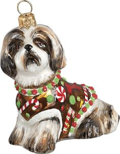 Shih Tzu Porcelain Christmas Holiday Ornament - 2015 Canine ...