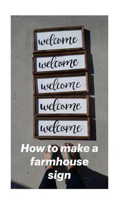Home Decor Signs, Diy Wall Decor, Farmhouse Signs, Farmhouse Decor, Farmhouse Front, Diy Wood Signs, Home Wood Sign, Rustic Signs, Wall Signs