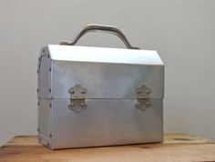 Vintage Aluminum Lunchbox Lunch Box L. May Sudbury Back to