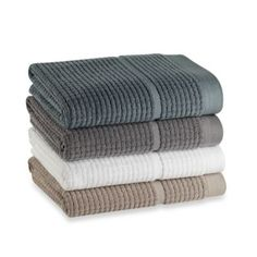 I'm replacing my towels and washcloths with only 100% cotton ones. Gonna check these out.   DKNYpure Retreat Towel Collection - BedBathandBeyond.com