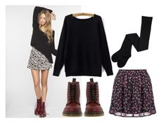 winter flowers by baggheera on Polyvore featuring mode, Dr. Martens and even&odd