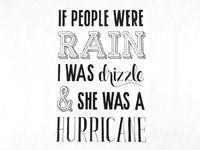If People Were Rain