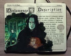 'Occlumency spell' with Severus Snape Harry Potter illustration by Gabriel Picolo Fanart Harry Potter, Harry Potter Diy, Mundo Harry Potter, Harry Potter Universal, Harry Potter Fandom, Harry Potter World, Harry Potter Journal, Illustrations Harry Potter, Harry Potter Drawings