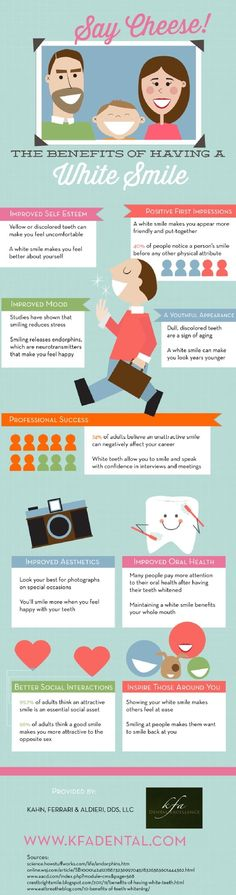 Say Cheese! The Benefits of Having A White Smile #dental #dentists #infographics
