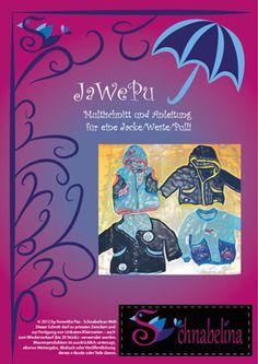 JaWePu - bunda, vesta, mikina na zip nebo druky, s kapucí nebo stojáčkem | střih (vel. 92-128cm) + návod | de
