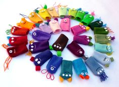 Monster Finger Puppets -- Party Favors (12 individual packs). $40.00, via Etsy.