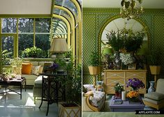 Gorgeous Winter Garden Conservatory bedroom by Russian designer