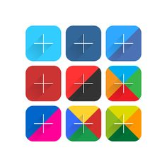 9 Popular Social Network Icon Simple Flat Long Shadow by f e e l i s g o o d, via Behance
