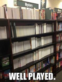 High school prank idea for high school library