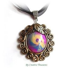 Nebula..A Polymer Clay Sculpted Pendant