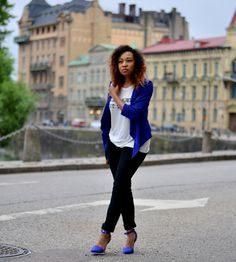 Petite Fashion Bloggers :: Done n Done :: blue jacket