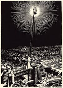 Rockwell Kent - illustration from Moby Dick, or The White Whale woodcut Rockwell Kent, Linocut Prints, Art Prints, Block Prints, Moby Dick, Scratchboard, Wood Engraving, Engraving Printing, Art And Illustration