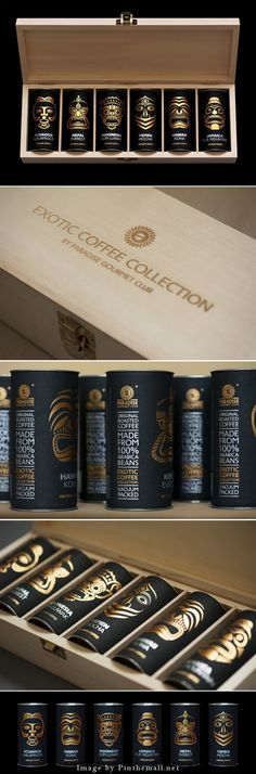 Exotic coffee collection by Paradise. Gourmet-club by ARTEMOV ARTEL Design Studio