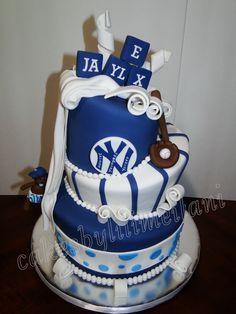 Yankee baby boy shower cake