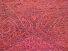 Hand-Knotted Red Overdyed Ikat 100 Percent Wool Oriental Rug - Product:4-x6-1-Hand-Knotted-Red-Overdyed-Ikat-100-Percent-Wool-Oriental-Rug-Sh35316