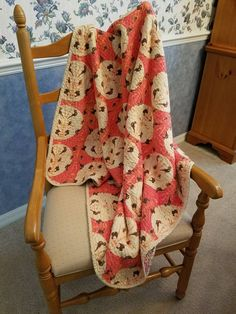 Faux chenille baby quilt