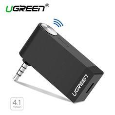 Ugreen bluetooth audio receptor de música 4.1 sin hilos del coche de 3.5mm aux cable adaptador libre para auriculares altavoz del manos libres bluetooth