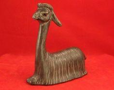 Vintage Anthony Freeman McFarlin California Pottery Llama $24 Oh My Home, Llama Arts, Brown And Grey, Gray, Cute Llama, Llama Alpaca, Alpacas, Camels, Art Object
