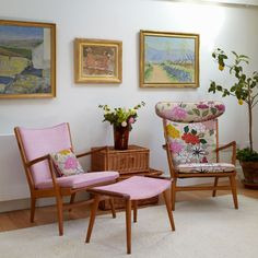 Beautiful flower chairs