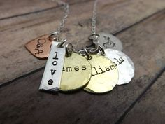 Hand stamped jewelrypersonalized by mybeadedbutterfly on Etsy, $43.00
