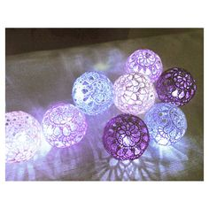 String Lights, Fairy Lights, Bedroom Decor lamps, 20 Purple shades... ($35) ❤ liked on Polyvore featuring home, lighting, purple shade, purple lights, purple lamp, purple string lights and purple shades #DIYHomeDecorLamp Light Purple Bedrooms, Purple Rooms, Light Garland, Ball Lights, Christmas Lights In Bedroom, String Lights In The Bedroom, Led String Lights, Wedding Lighting, Fairy Lights Wedding