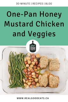 This One-Pan Honey Mustard Chicken and Veggies is perfect for a busy weeknight (or when you just don't feel like cooking). It's ready in 30 minutes and your entire meal cooks in one pan. Plus, the chicken in this recipe has a delicious crispy coating.  #onepan #onepandinner #healthy #healthyfood #recipe #healthyrecipe #chicken #chickenrecipe One Pan Dinner Recipes, One Pan Meals, Healthy Dinner Recipes, My Recipes, Chicken Recipes, Cooking For One, Cooking Time, Bread Crumb Chicken, Honey Mustard Chicken