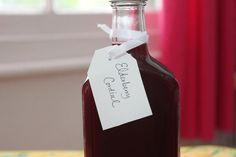 Get an early start on warming winter drinks - elderberry cordial