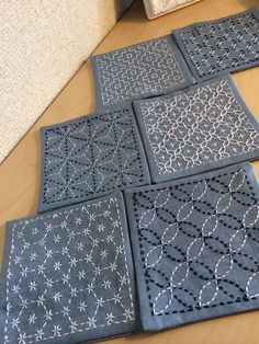 Coasters using Hobbyre Hobbyra pattern.