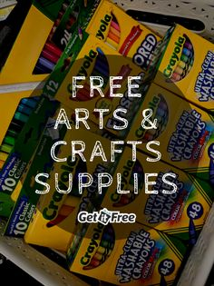 Save on arts & crafts supplies with free Crayola samples from Get It Free! #GetCrafting