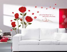 UfingoDecor Romantic Red Rose Flowers Wall Decals, Living Room Bedroom Removable Wall Stickers Murals (ROSE, 1) Home & Outdoor Tools http://www.amazon.com/dp/B00D1UM3B0/ref=cm_sw_r_pi_dp_f0wRwb16Q5724