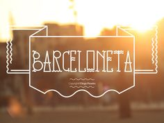Barceloneta typeface by Diogo Pisoeiro, via Behance