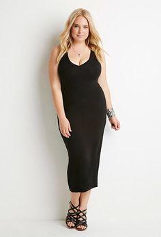 V-Neck Midi Dress | Forever 21 PLUS - 2000156561