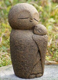 PSL Love Parent and child Ksitigarbha Handmade statue buddha jizo in Collectibles, Cultures & Ethnicities, Asian Pottery Sculpture, Sculpture Art, Ceramic Pottery, Ceramic Art, Love Parents, Little Buddha, Garden Statues, Stone Carving, Clay Projects