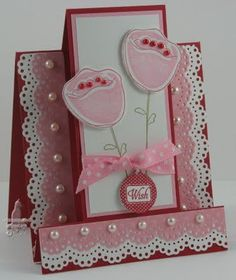 Flower step card