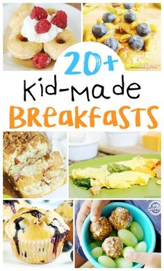 Breakfasts Kids Can Make on Their Own is part of Kids cooking recipes - Learning to cook is a valuable life lesson for all children! KidMade Breakfast Recipes perfect to make together and teach kitchen skills Cooking With Kids Easy, Easy Meals For Kids, Baking With Kids, Kids Meals, Kid Cooking, Cooking School, Cooking Bacon, Cooking Games, Cooking Rings