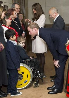 Prince William, Duke of Cambridge and Duchess Catherine meets dignitaries during an official visit to the Guildhall