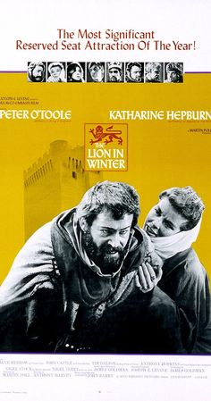 Directed by Anthony Harvey.  With Peter O'Toole, Katharine Hepburn, Anthony Hopkins, John Castle. 1183 AD: King Henry II's three sons all want to inherit the throne, but he won't commit to a choice. They and his wife variously plot to force him.