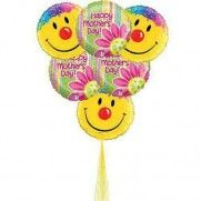 "Make her Day  ""Smiley"" Balloons #mothersday #balloons #mylar #smiley #yellow"