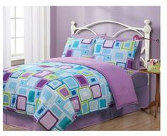 Twin Geo Aqua Square Reversible Comforter Set Just $25.95 (down from $89.99)!