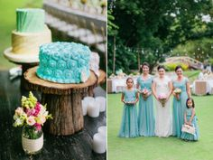 Cakes by Marissa Unchuan  Entourage dresses by Edwin Alba